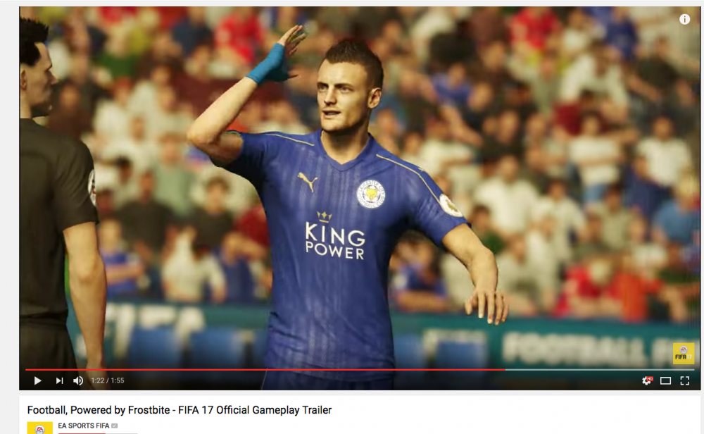 Jamie Vardy FIFA 17 Official Gameplay trailer.png
